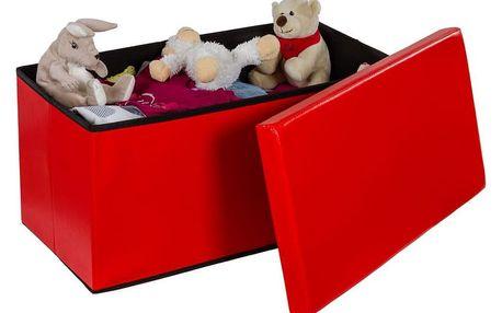 STILISTA 6477 Skládací lavice s úložným prostorem - červená