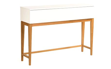Bílý konzolový stůl Woodman Blanco