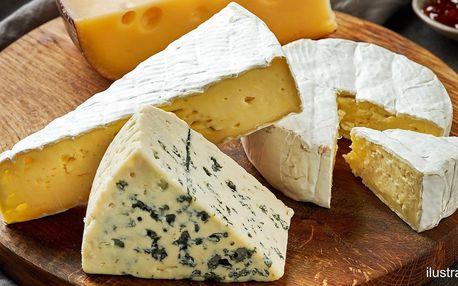Voňavý 350g balíček plísňových sýrů