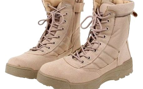 Boty vysoké kožené vel. 43