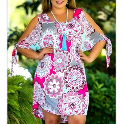 Dámské letní šaty plus size Raissa - 4 barvy