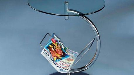 Konferenční stůl Alma - bezbarvé sklo