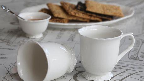 Chic Antique Hrníček Provence, bílá barva, porcelán