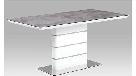 Jídelní stůl HT-450 GREY šedá / bílá Autronic