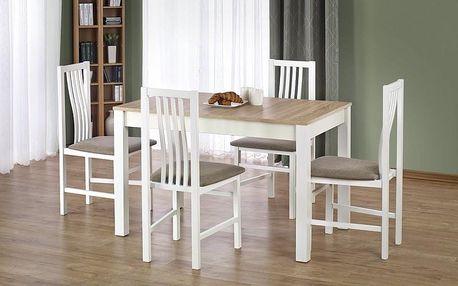 Dřevěný jídelní stůl Ksawery bílá-sonoma