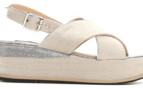 Dámské béžové sandály na platformě Silvia 9212