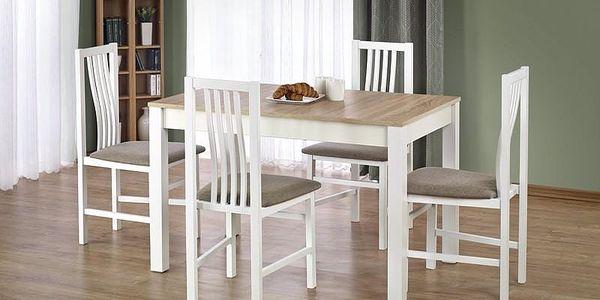 Dřevěný jídelní stůl Ksawery bílá-sonoma2