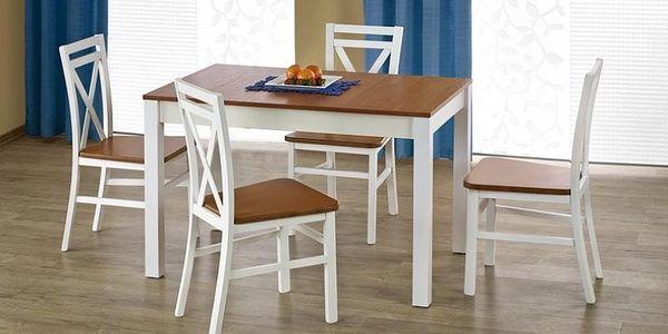 Dřevěný jídelní stůl Ksawery bílá-sonoma3