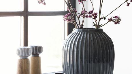 KÄHLER Keramická váza Hammershøi Anthracite 25 cm, modrá barva, keramika