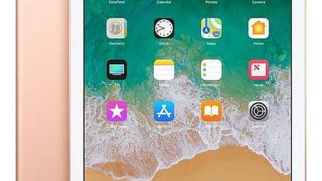 Dotykový tablet Apple iPad (2018) Wi-Fi+Cellular 128 GB - Gold + dárek (MRM22FD/A)