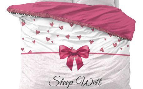 Bavlněné povlečení na dvoulůžko Sleeptime Sleepwell, 200 x 220 cm