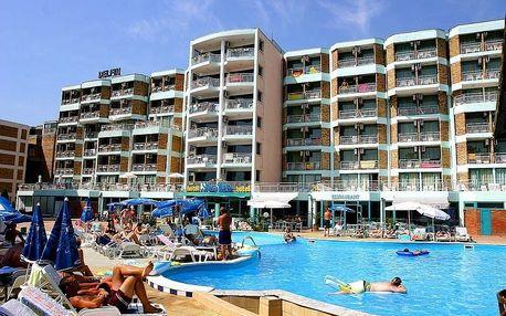 Bulharsko - Slunečné Pobřeží na 8 dní, snídaně s dopravou letecky z Prahy 50 m od pláže