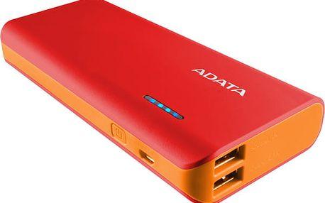 Powerbank ADATA PT100 10000mAh červená/oranžová (APT100-10000M-5V-CRDOR)