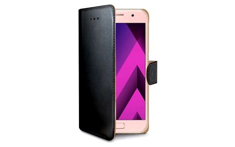 Pouzdro na mobil flipové Celly Wally pro Samsung Galaxy A3 (2017) černé (WALLY643)