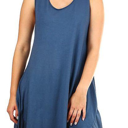 Dámské plážové oversized šaty modrá