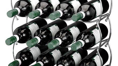 Kovový stojan na víno - 3 kusy v sadě EH Excellent Houseware