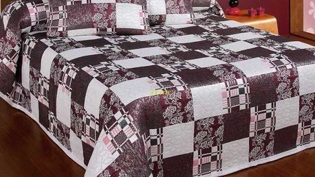 Forbyt Přehoz na postel Jasmin, hnědá, 140 x 220 cm