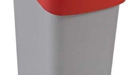 CURVER FLIPBIN 31362 Odpadkový koš 50l - červený
