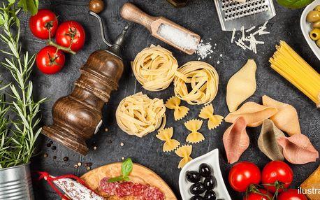 Italské potraviny: vouchery na 300 nebo 500 Kč