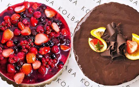 Dorty od Kolbaby: jogurtový s ovocem i čokoládový