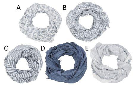 IB LAURSEN Dámský šátek Grey Green Typ C, šedá barva, bílá barva, textil