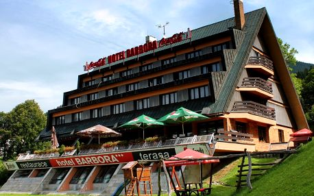 Hotel Barbora v centru Špindlerova Mlýna s polopenzí a wellness