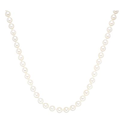 Bílý perlový náhrdelník Perldesse, ⌀ 0,8 x délka 45cm
