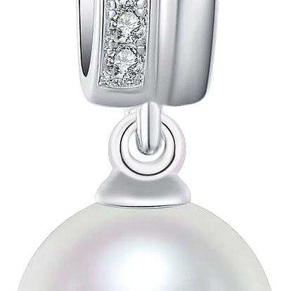 Náhrdelník s bílou perlou Pearls of London White Lady