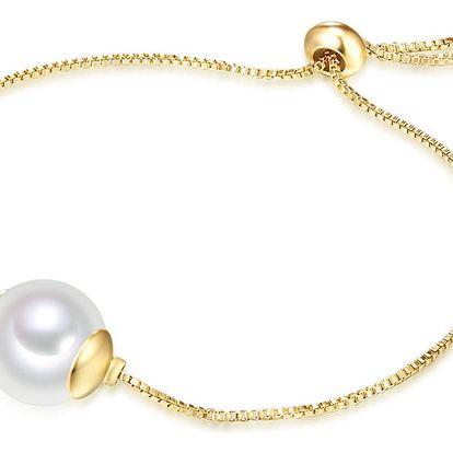 Náramek s perlou Nova Pearls Copenhagen Goldie Amandine