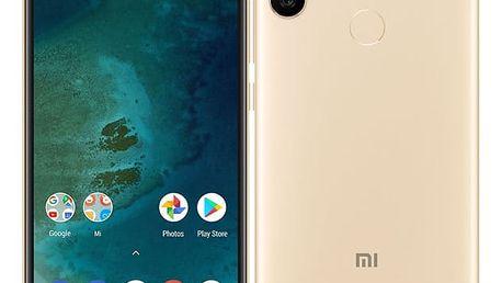 Mobilní telefon Xiaomi Mi A2 Lite 64 GB (19058) zlatý Software F-Secure SAFE, 3 zařízení / 6 měsíců v hodnotě 979 Kč + DOPRAVA ZDARMA