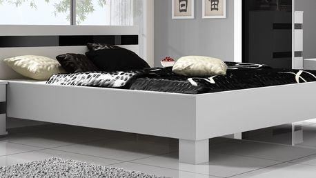Moderní manželská postel LUCCA 160x200 cm bez roštu a matrace