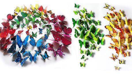 Magnetičtí a nalepovací 3D motýlci
