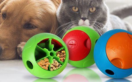 Chytrý dávkovací míček krmiva pro psy a kočky