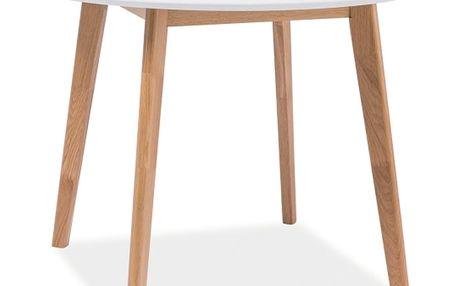 Jídelní stůl s bílou deskou Signal Mosso