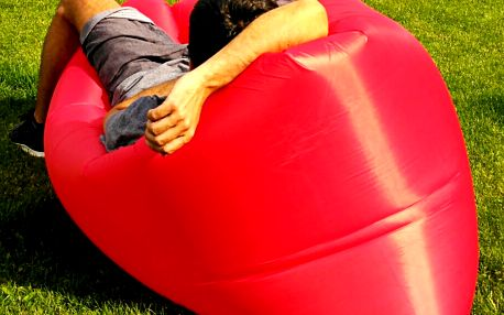 Sedací vak Lazy Bag HooUp red