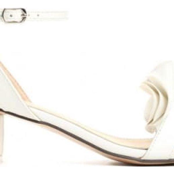 Dámské bílé sandály na podpatku Sara 1486