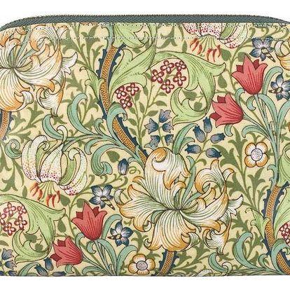 MORRIS & Co. Kosmetická taštička Golden Lily - úzká, zelená barva, žlutá barva, multi barva, textil
