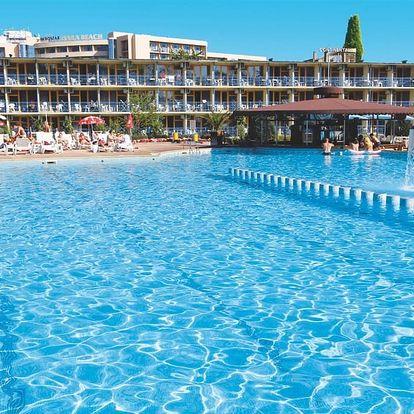 Bulharsko - Slunečné Pobřeží na 8 dní, light all inclusive nebo snídaně s dopravou letecky ze Sliače, Prahy, Brna nebo Košic 250 m od pláže