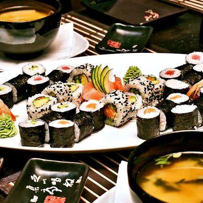 Wasabi sushi: 24 nebo 44 kusů + polévka