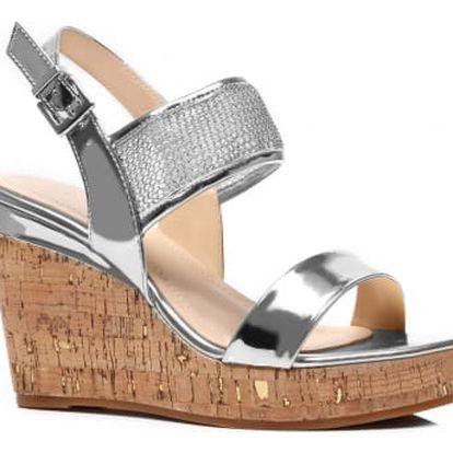 Dámské stříbrné sandály Houdy 2009