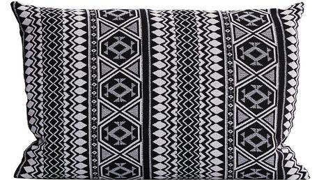 House Doctor Povlak na polštář Indi 40x60 cm, černá barva, textil