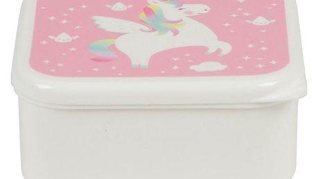 sass & belle Krabička na svačinu Unicorn, růžová barva, bílá barva, plast
