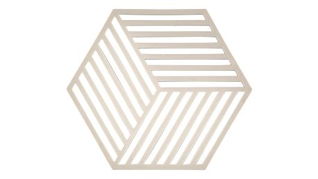 Podložka pod horké Hexagon, světle šedá