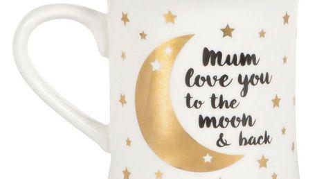 sass & belle Porcelánový hrnek Mum love you, bílá barva, zlatá barva, porcelán 400 ml