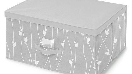 Šedý úložný box Cosatto Leaves, 60x45cm
