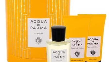 Acqua di Parma Colonia dárková kazeta unisex kolínská voda 100 ml + sprchový gel 75 ml + tělový krém 75 ml