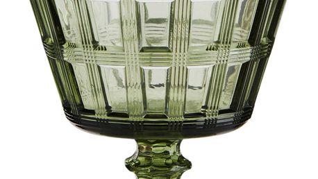 MADAM STOLTZ Sklenice na koktejly Green Glass 250 ml, zelená barva, sklo