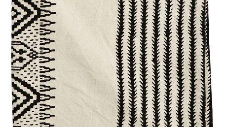 MADAM STOLTZ Kuchyňská utěrka Oriental 50x70cm, černá barva, krémová barva, textil