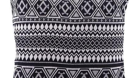 House Doctor Povlak na polštář Indi 50x50 cm, černá barva, textil