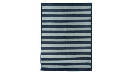 House Doctor Nášlapný kobereček Stripes 90 x 120 cm, šedá barva, textil